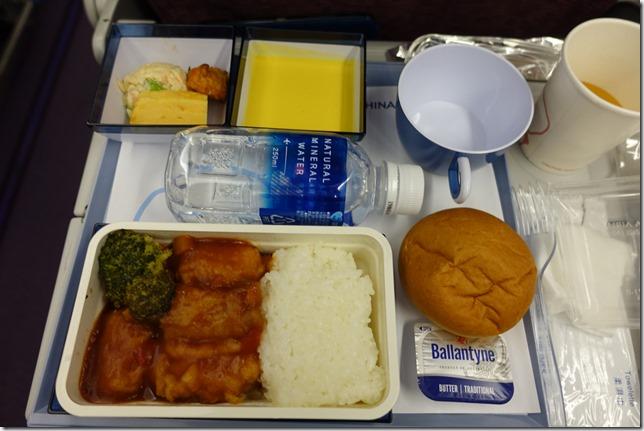 チャイナエアライン機内食