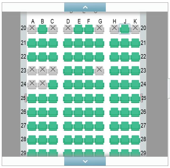 JGC座席指定