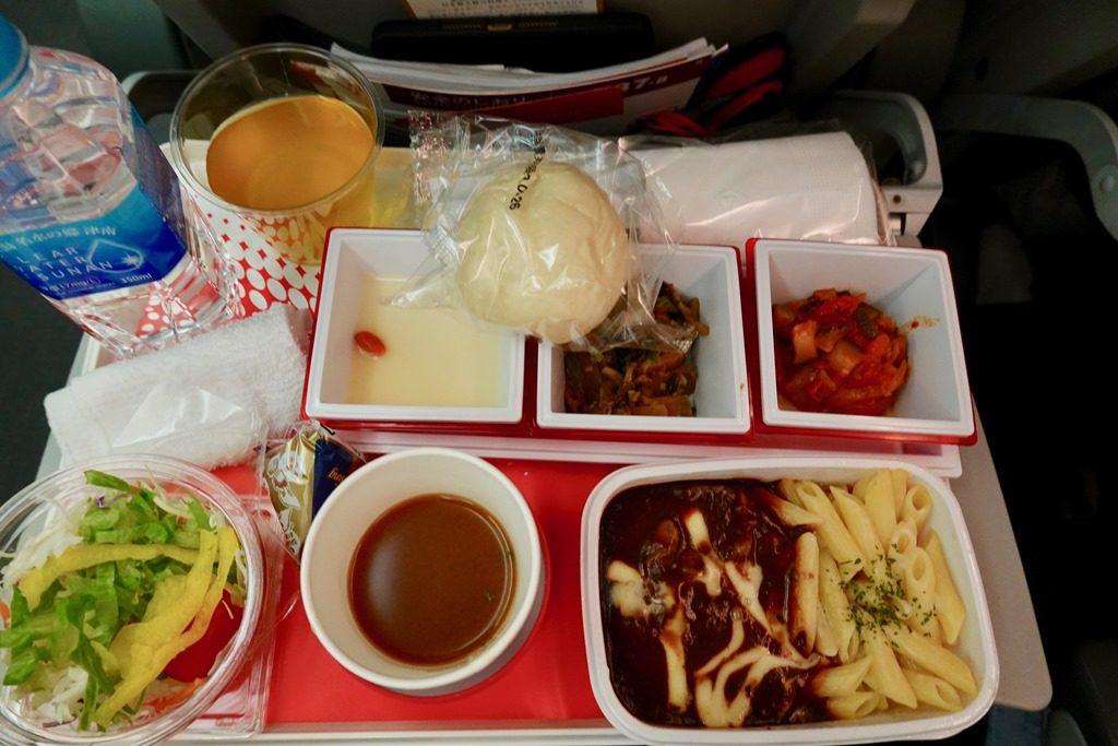 JALバンコク便機内食