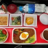 JALクアラルンプール便エコノミークラス機内食