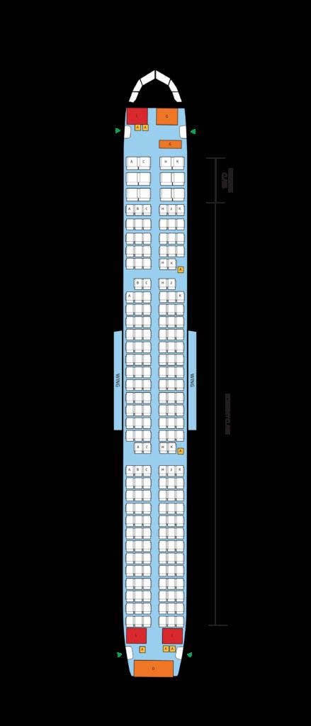 セブ島 A321-200の座席マップ