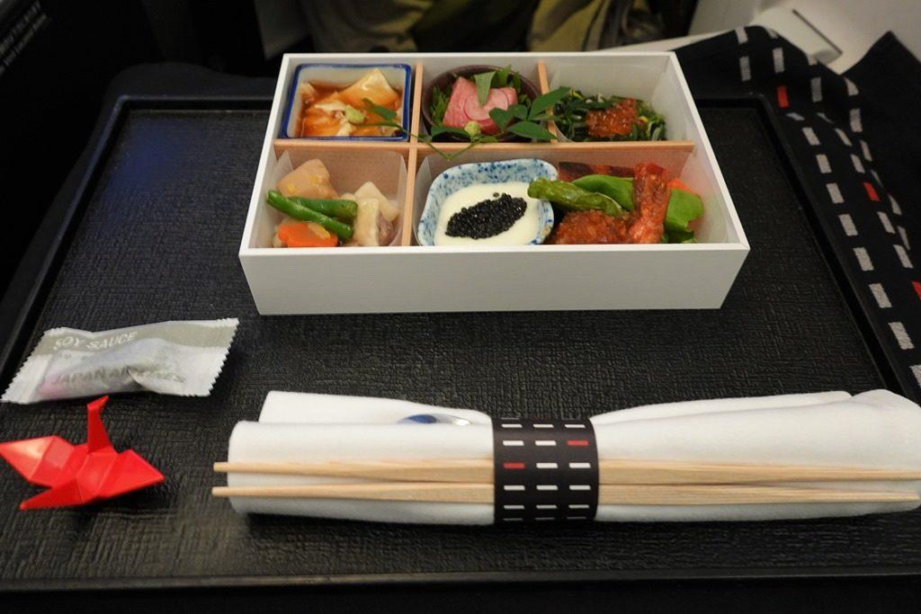 JALクアラルンプール便ビジネスクラス機内食